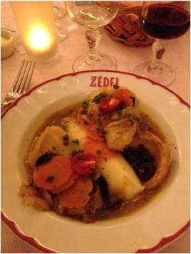 Braised Artichoke and Mash in Brasserie Zedel