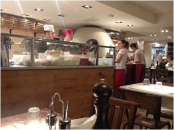 The Pizza Oven in Franco Manca Tottenham Court Road