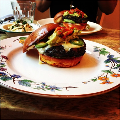 The Vegetarian Burger at Bobo Social