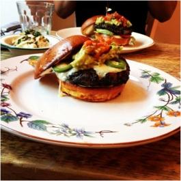 The Vegetarian Burger at Bobo Social