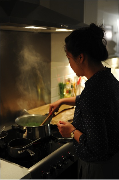 Uyen Luu Preparing Dinner