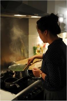 Uyen Luu Preparing Dinner
