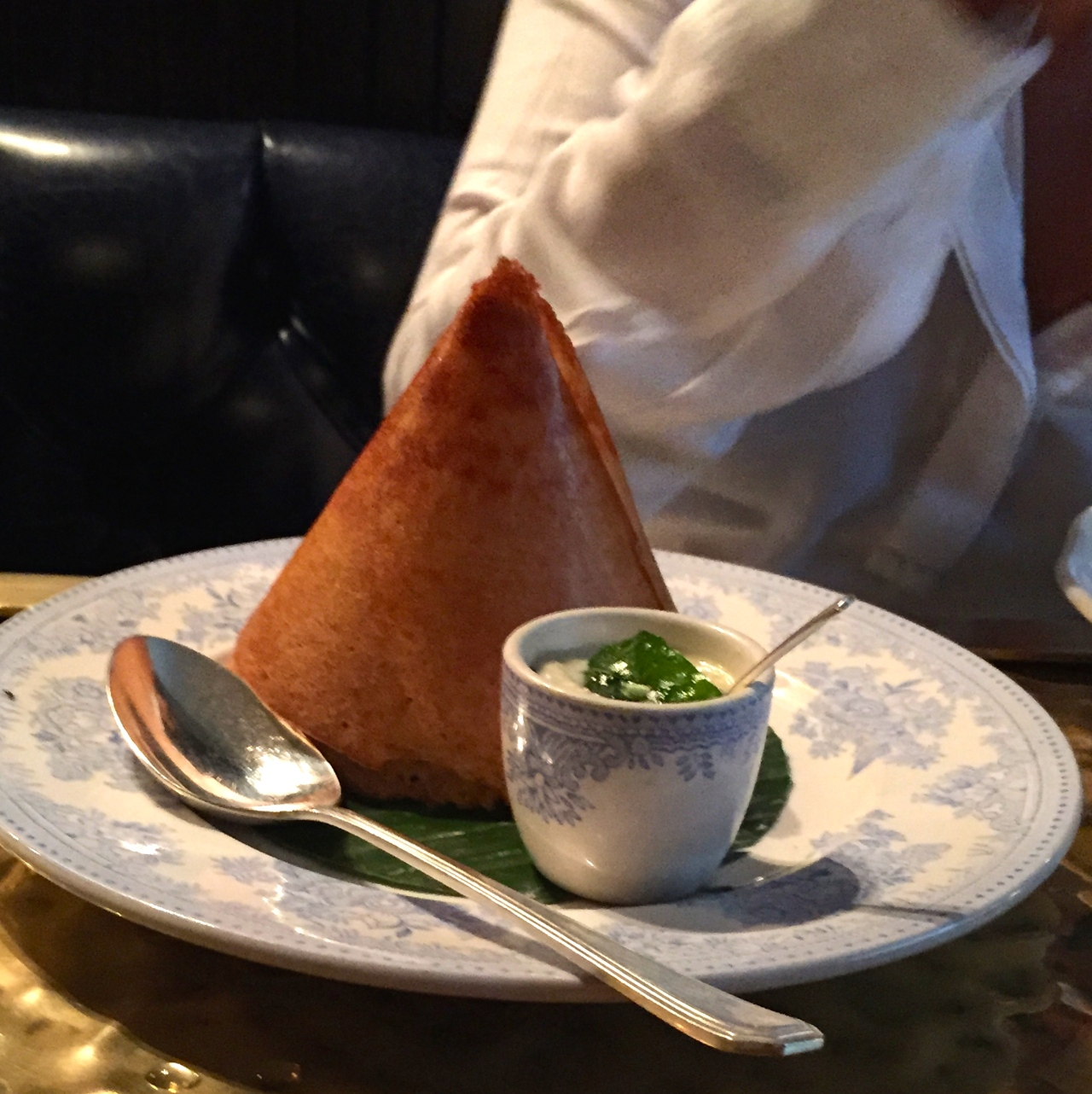 Dosa with Chettinad Duck