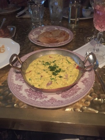 Duck Egg Bhurji with Lobster