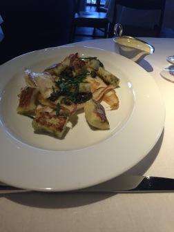 White Dover Sole, Caper Gnocchi, Samphire and Citrus Sabayon from City Social
