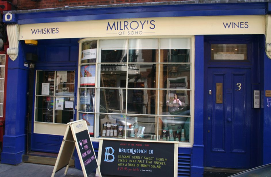 London oldest Whisky Shop ; Milroys
