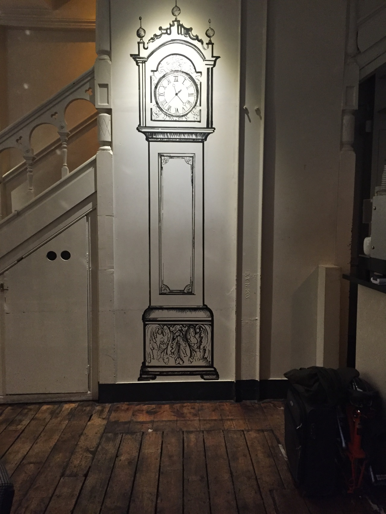 Handdrawn Art of a Grandfather Clock
