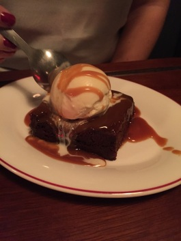 Chocolate Brownie and Vanilla Ice Cream from Back in 5 Minutes